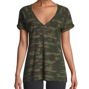 Sanctuary Camo- Print Cotton-blend tee SMALL